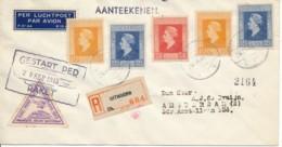 Raketpost 1945 – Aangetekend Uithoorn Gestart 20 November 1945 - Luchtpost