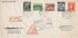Raketpost 1945 – Aangetekend Zandvoort 5 November 1945 - Airmail