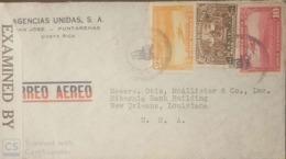 O) 1926 COSTA RICA, MAIL PLANE ABOUT TO LAND 25c - PLANE 10c, CHAPURI ASYLUM -SAN JOSE - ARCHITECTURE, CENSORSHIP -EXAMI - Costa Rica