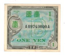 Japan 1 Yen , P-67a, Military Currency, AUNC. - Japan
