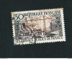 N° 1114 Les Travaux Publics  Timbre    France  Oblitéré 1957 - France