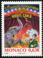 MONACO 2013 International Circus Festival Horses Elephants Animals Fauna MNH - Chevaux