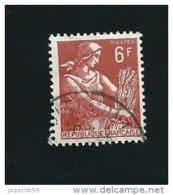 N° 1115  Moissonneuse 6frs  Timbre  France  1957-1960 - France