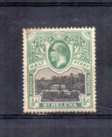 ISOLA DI ST. HELENA - 1912/1916 - Half Penny - Nuovo - Linguellato * - (FDC17329) - Isola Di Sant'Elena