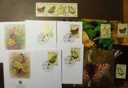 WWF - Premier Jour - San Marino - Papillon  Schmetterlinge Mi: 1535 -38  Maxi Card FDC MNH ** #cover 4921 - W.W.F.