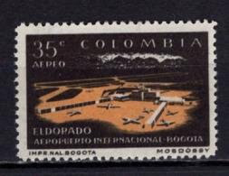 Flughafen Bogota, Anscheinend Doppeldruck Der Farbe Schwarz?, Ungebraucht (80216) - Colombia