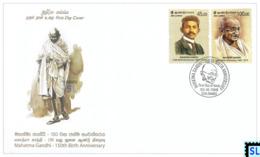 Sri Lanka Stamps 2019, Mahatma Gandhi, India, FDC - Sri Lanka (Ceylon) (1948-...)