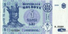 Moldavie 5 Lei (P9) 2009 -UNC- - Moldavië