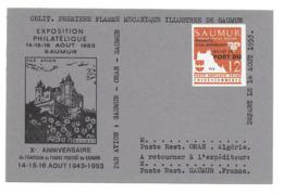 FRANCE - GREVE DE SAUMUR - TIMBRE SUR CARTE COMMEMORATIVE - Streikmarken