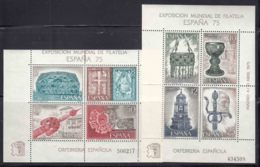 Spain 1975 Mi#Block 19 And 20 Mint Never Hinged - 1931-Today: 2nd Rep - ... Juan Carlos I