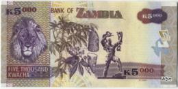 Zambia 5000 Kwacha (P45e) 2009 Sign 12 -UNC- - Zambie