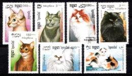 Cambodga 1988  Mi.nr: 930-936 Katzen  Oblitérés / Used / Gestempeld - Chats Domestiques