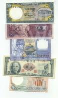 Set 5 Banknotes (see Scan) - XXF/aUNC- - Banknoten
