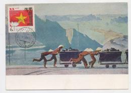 CARTE MAXIMUM CM Card USSR RUSSIA Vietnam Miner Coal Art Painting Hon Gai - Cartes Maximum