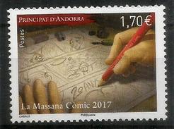 Museu Del Còmic D'Andorra. 1 Timbre Neuf **  (année 2017) Haute Faciale - Andorre Français
