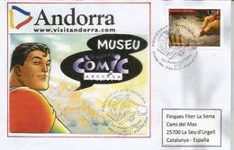 ANDORRE. Musée Comics De La Bande Dessinée à La Massana, FDC 2017 (haute Faciale) - FDC