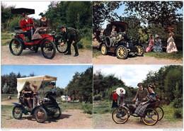 LOT DE 4 CPSM (Réf : L 528) THÈME TRANSPORT VOITURES  TOURISME  VIEUX TACOTS - Turismo