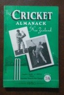 THE CRICKET ALMANACK NEW ZEALAND ANNUAL 1950 LOOK !! - Sports