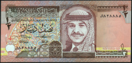 JORDAN - ½  Dinar 1992-1412 {King Hussein} UNC P.23 A - Jordanien