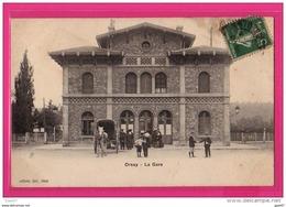 CPA  (RÉF : VV736) SORSAY (91 ESSONE)  - La Gare (animée, Attelage) - Orsay