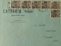 """DF40266/673 - 1931 - EXPO COLONIALE - N°270 Sur ✉️ Avec Pub """" Et. CATHERIN - VOLAILLES DE BRESSE """" - CàD : MACON à BOURG - France"""