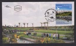 9.- ISRAEL 2019 FDC ARIEL SHARON PARK - Protección Del Medio Ambiente Y Del Clima