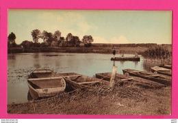 CPA (Réf Z 1101) (80 SOMME) LONGPRÉ-LES-CORPS-SAINTS Un Embarcadère Aux étangs De L'Hôtel Du Bosquet - France
