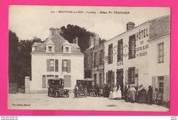 CPA (Ref: Z 1271) BEAUVOIR-SUR-MER (85 VENDÉE) Hôtel Foucher Vieux Tacot (très Animée) - Beauvoir Sur Mer