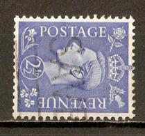 1941 - George VI - 2 ½ P. Bleu Clair - Filigrane K Couché - N°213Aa - Gebraucht