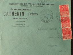 """DF40266/674 - 1931 - EXPO COLONIALE - N°272 Sur ✉️ Avec Pub """" Et. CATHERIN - VOLAILLES DE BRESSE """" - CàD : MACON-GARE - Covers & Documents"""