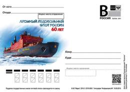 Russia 2019 Postal Stationery Card Russian Nuclear Icebreaker Fleet 60 Years - Barche