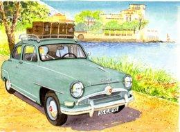 Simca Aronde En Vacance  - Aquarelle Par Jean-Luc Marsaud  - (A4 30x21cms Art Print) - Voitures De Tourisme