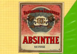 Etiquette Ancienne ABSINTHE Suisse  Chromos - Labels