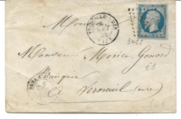 France LSC Losange 3431 Trouville Sur Mer 08/08/58 / YT 14A - Postmark Collection (Covers)
