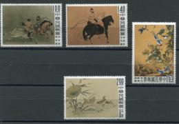 FORMOSE N°327 / 330 ** TABLEAUX CELEBRES DE L'ANCIENNE CHINE - 1945-... République De Chine