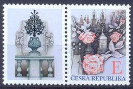 CZ 2011-703 GRÜSE MARKEN Roses Above Prague, CZECH REPUBLIK, 1 X 1v + V, MNH - Neufs