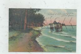 La Teste-de-Buch (33) :  MP D'un Attelage De Promenade Voiture à Sable Sur Les Bords Du Lac De Cazaux Env 1924 (ani) PF. - France