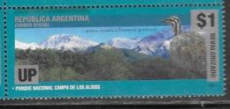 ARGENTINA, 2019, MNH, FAUNA,BIRDS, MOUNTAINS, 1v OVERPRINT - Birds