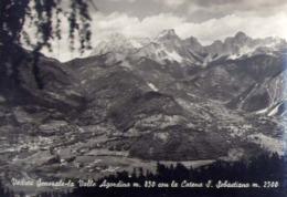 Veduta Generale - La Valle Agordina Con La Catena S.sebastiano - Formato Grande Viaggiata – E 13 - Italia