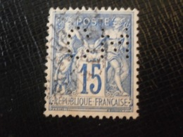FRANCE TIMBRE SAGE 90 CM253 PERFORE PERFORES PERFIN PERFINS PERFO PERFORATION PERFORIERT LOCHUNG PERFORATI PERCE - Perforés
