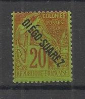 Diego-Suarez - 1892 - N°Yv. 19 - Alphée Dubois 20c Brique - Neuf Luxe ** / MNH / Postfrisch - Neufs