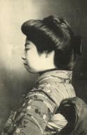 Japan, Beautiful Side View Of Geisha Lady In Kimono (1910s) Postcard - Japan