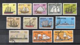 SINGAPORE - 1980 - Navi - Velieri - 12 Valori - Usati - (FDC17336) - Singapore (1959-...)