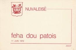 VECCHIO INVITO - NOVALESA - FEHA DOU PATOIS - 11 JUIN 1972 - LEGGI - Seasons & Holidays