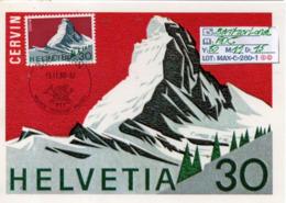 SWITZERLAND:#MAXIMUM FDC CARD#MATTERHORN#1980# #(MAX-C-280-1 (46) - Geology