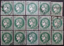 FRANCE N°375 X 15 Oblitéré - Verzamelingen (zonder Album)