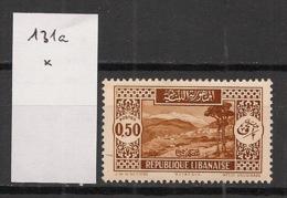 Grand Liban - 1930-35 - N°Yv. 131a - Bickfaya 0pi50 Brun - Type II - Neuf * / MH VF - Ungebraucht