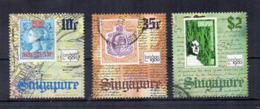 SINGAPORE - 1980 - Esposizione Filatelica Londra 80 - 3 Valori - Usati - (FDC17337) - Singapore (1959-...)