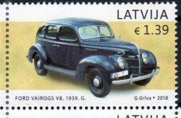 LATVIA, 2018, MNH,CARS, VINTAGE CARS, 1v - Coches