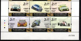 MACAO, 2018, MNH, MACAO GRAND PRIX, MOTORSPORTS, CARS, MOTORBIKES, 8v - Motorbikes